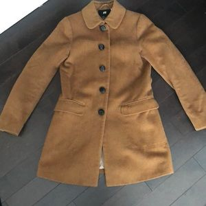 Brown Wool Blend Fall / Winter Coat